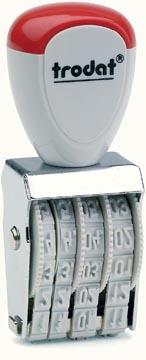 Trodat datumstempel Classic Line 4 mm, maanden in Arabische cijfers