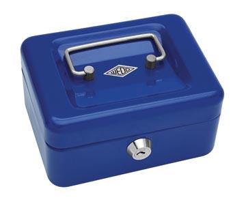 Wedo geldkoffer, ft 12,5 x 11,5 x 8 cm, blauw