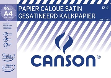 Canson kalkpapier ft 21 x 29,7 cm (A4), etui van 12 blad