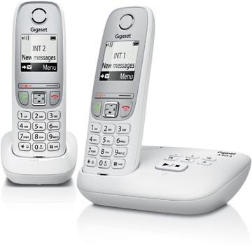 Gigaset A415 DECT draadloze telefoon met antwoordapparaat, met extra handset, wit