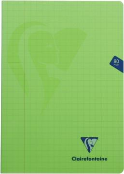 Clairefontaine schrift mimesys voor ft A4, 80 bladzijden, kaft in PP, geruit 10 mm, geassorteerde kleuren