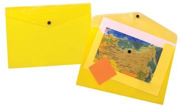 Beautone documentenmap, A4, transparant geel