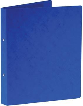 Bronyl ringmap, voor ft A4, uit glanskarton, 2 ringen van 25 mm, blauw
