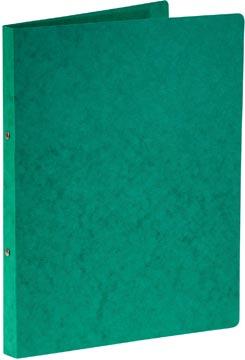 Bronyl ringmap, voor ft A4, uit glanskarton, 2 ringen van 16 mm, groen