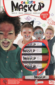 Carioca maquillagestiften Mask Up Party Set, doos met 6 stiften