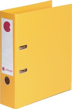 Calipage ordner, voor ft A4, volledig uit PP, rug van 8 cm, geel