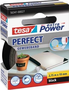 Tesa extra Power Perfect, ft 19 mm x 2,75 m, zwart