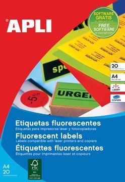 Apli fluorescerente etiketten 99,1 x 67,7 mm (b x h) oranje