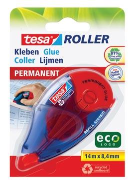 Tesa Roller navulbare lijmroller permanent ecoLogo, ft 8,4 mm x 14 m, op blister