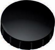 Maul magneet MAULsolid, diameter 24 x 8 mm, zwart, doos met 10 stuks