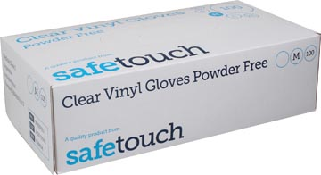 Handschoenen uit vinyl, medium, wit/transparant, doos van 100 stuks