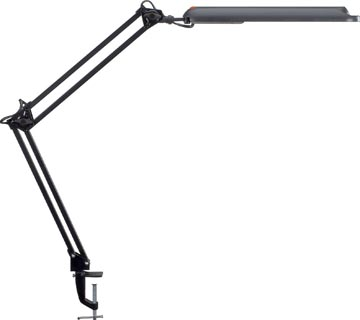 Maul bureaulamp MAULatlantic met tafelklem, zwart