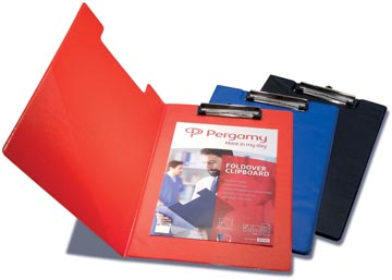 Pergamy klemmap, voor ft A4, uit PVC, blauw