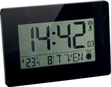 Orium by CEP digitale radiogestuurde klok met LCD scherm, multifunctioneel, ft 22,9 x 2,7 x 16,2 cm