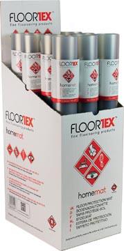 Floortex vloermat, voor tapijt en harde ondergronden, ft 120 x 75 cm, display van 12 stuks
