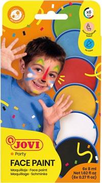Jovi maquillage Face Paint, kartonnen etui van 6 kleuren