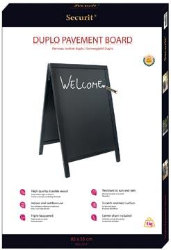 Securit stoepbord Woody zwart ft 55 x 85 cm