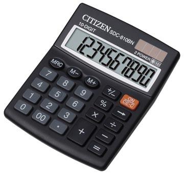 Citizen bureaurekenmachine SDC-810BN, zwart