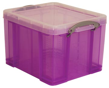 Really Useful Box opbergdoos 35 liter, transparant paars
