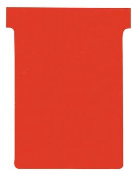 Nobo T-planbordkaarten index 3, ft 120 x 92 mm, rood
