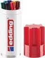 Edding permanent marker 3000, koker van 8 stuks in geassorteerde kleuren